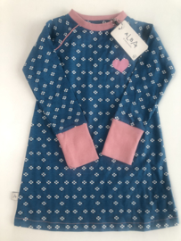 ALBA -  Merry Me School Dress Seaport Mini Hearts 104