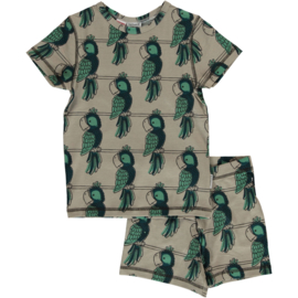 Maxomorra - Pyjama Set Short Sleeve Slim Parrot