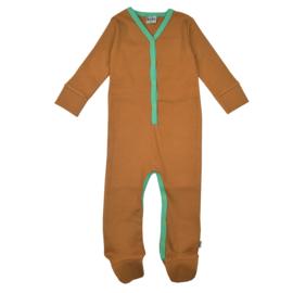 Ba*Ba Kidswear - Footed Bodysuit Brown Sugar