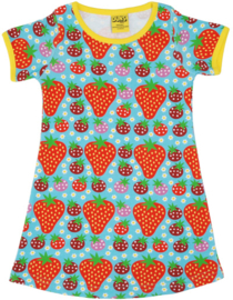 Duns Sweden - Strawberry Field Light Turquoise SS Dress