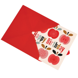 Rex London - Vintage Apple Birthday Card