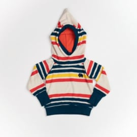 ALBA - Habian Hood Blouse Multi Magic Rainbow Striped