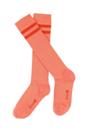 Lily Balou - Jordan Knee Socks Striped Papaya Punch