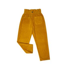Carlijn Q - Corduroy Chino High Waist Yellow