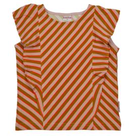 Baba Kidswear - Ruffle Shirt Diagonal Pink