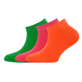 Ewers - Sneaker 3-Pack Uni Grassgrün/Pink/Orange