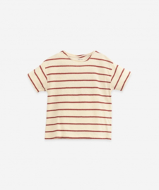 Play Up - Striped Round Neck T-Shirt Farm