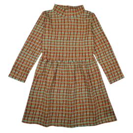Ba*Ba Kidswear - Coco Dress Jaquard Raster Green