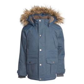 En*Fant - Snow Jacket with Fake Fur Dark Slate