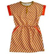 Baba Kidswear - Ymke Dress Diagonal Pink