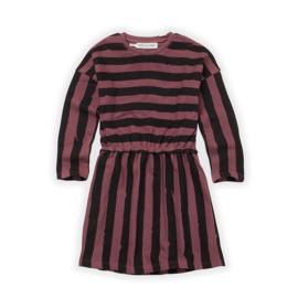 Sproet&Sprout - Skater Dress Painted Stripe Black/Fig