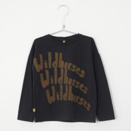 Lötiekids - Longsleeve Wildhorses Vintage Black