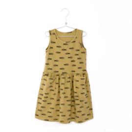 Lötiekids - Dress Sleeveless Fishes Sun Yellow
