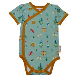 Baba Kidswear - Wrap Body Short Sleeve Happy Beetles