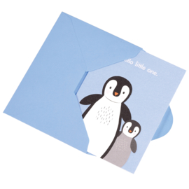 Rex London - Hello Little One Peguin Card