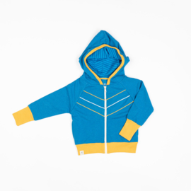 Alba of Denmark - Adam Zipper Hood Mykonos Blue