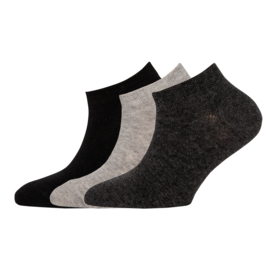 Ewers - Sneaker 3-Pack Uni Schwarz/Grau/Antrazit