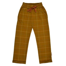 Baba - Boys Pant Checkered Mustard