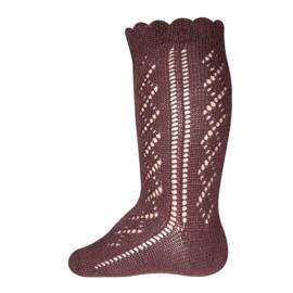Ewers - Kniekousen Crochet Lace Mahaghoni