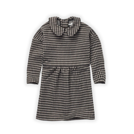Sproet&Sprout - Collar Dress Check Black