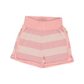 Maxomorra - Runner Shorts Solid Striped Dusty Rose