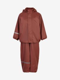 Celavi - Rainwear Set Solid fleece Mahogany