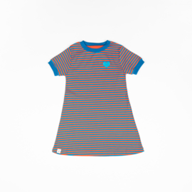 Alba of Denmark - Vida Dress Orange.Com Magic Stripes