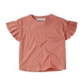 Sproet&Sprout - T-Shirt Rib Ruffle Rose