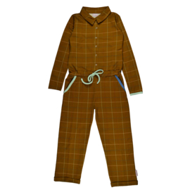 Baba - Aster Jumpsuit Checked Mustard
