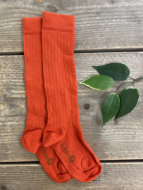 Lily Balou - June Knee Socks Red Orange 27/30