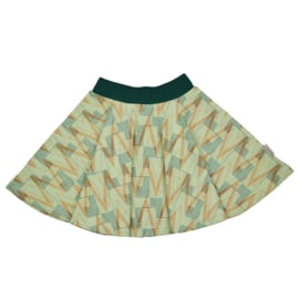Baba - Full Circle Skirt Geometric Jacquard