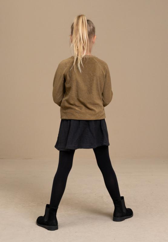 BY-BAR - Girls Teddy Slub Sweater Dry Khaki