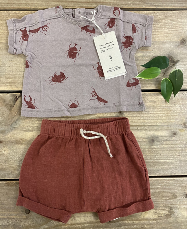 Play Up - T-Shirt in Organic Cotton and Linen Bicho Beetle