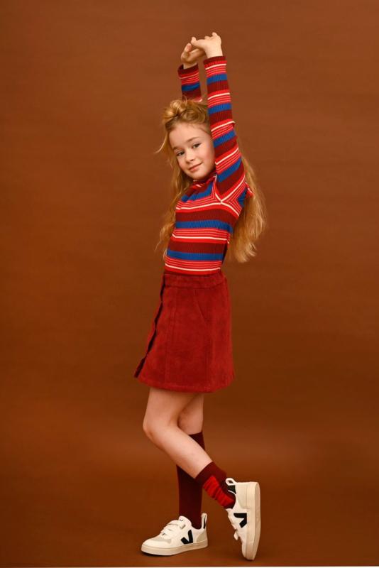 Lily Balou - Emiel Turtleneck Red Stripes