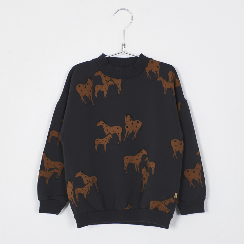 Lötiekids - Sweatshirt Horses Vintage Black