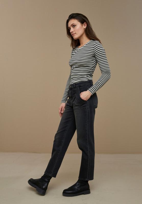 BY-BAR LADIES - Basic Longsleeve Melange Stripes