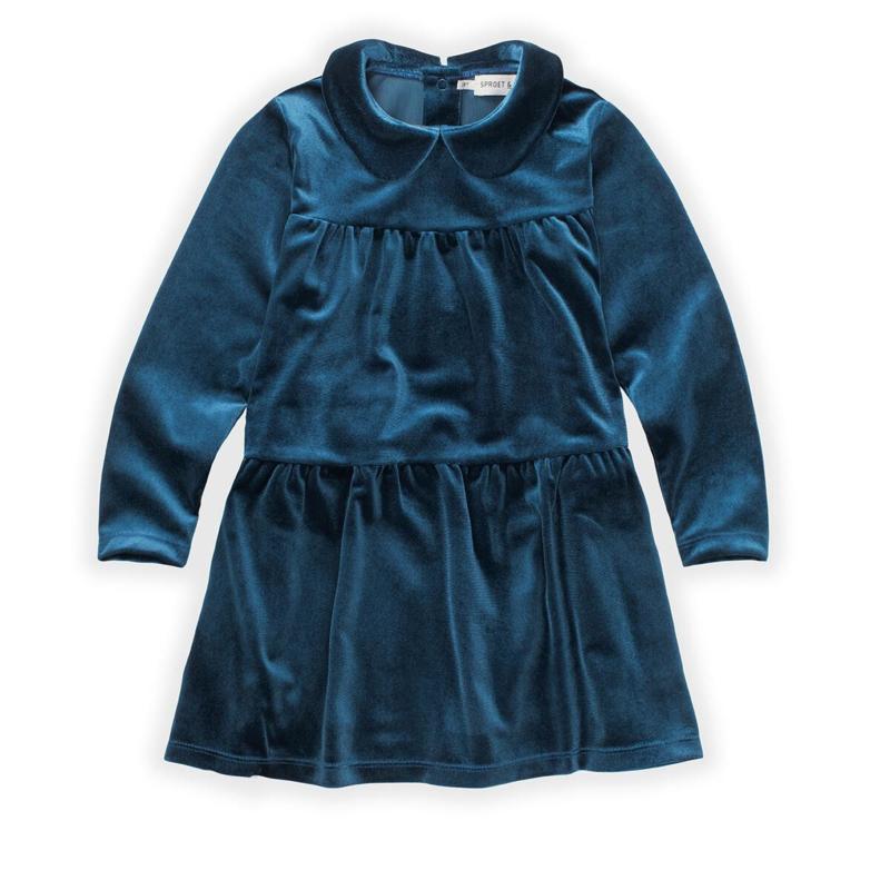 Sproet&Sprout - Dress Velvet Lake Blue