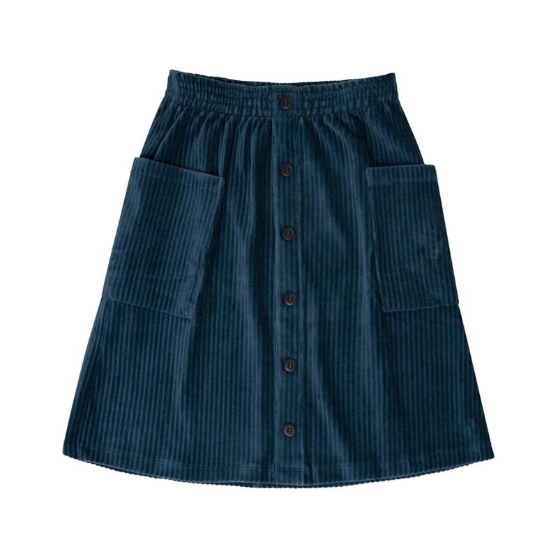 Carlijn Q - Corduroy Midi Skirt Teal