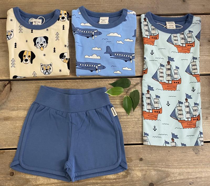 Meyadey - Top Short Sleeves Happy Dogs