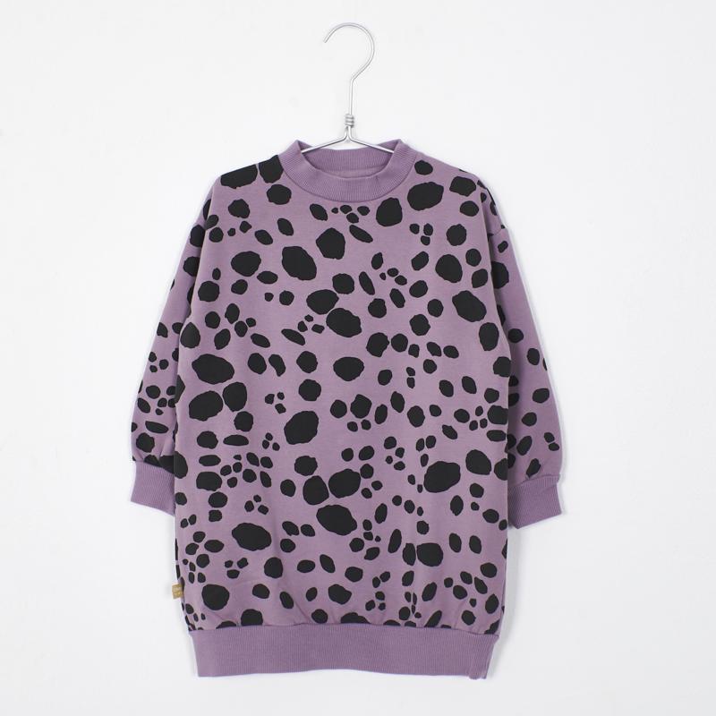 Lötiekids - Long Sweater Dress Dots Lilac