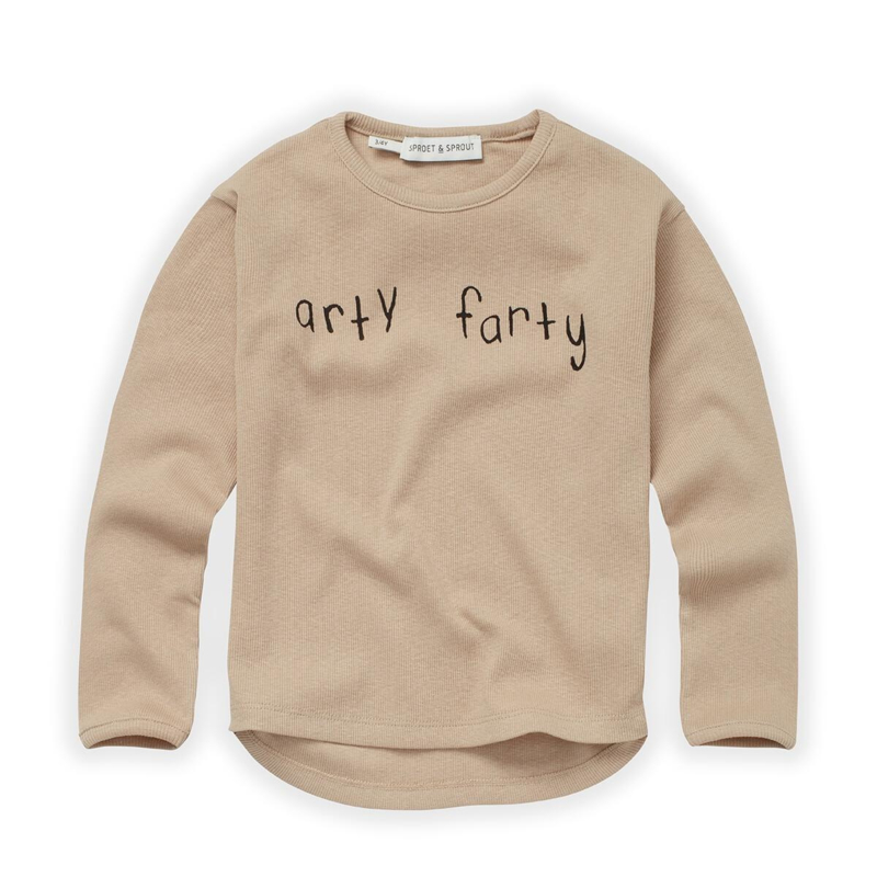 Sproet&Sprout - T-Shirt Rib Arty Farty Nougat
