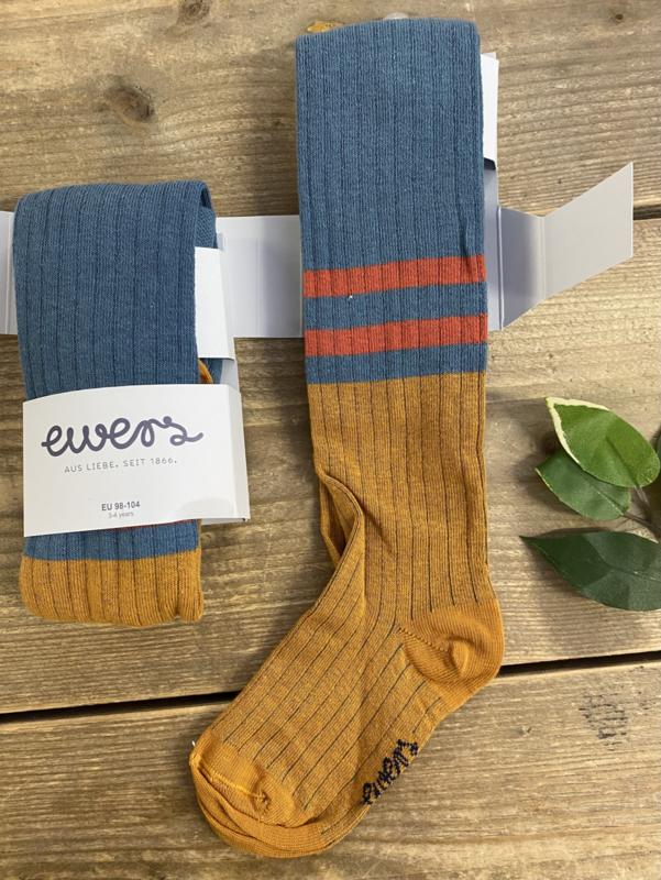 Ewers - Kousenbroek met Ribmotief Fliegerblau