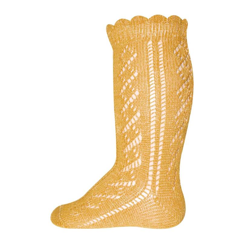 Ewers - Kniekousen Crochet Lace Honig