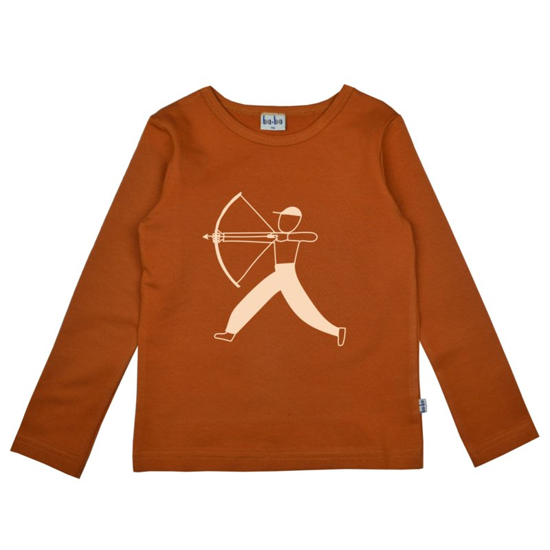 Baba - Longsleeve Leather Brown Bow