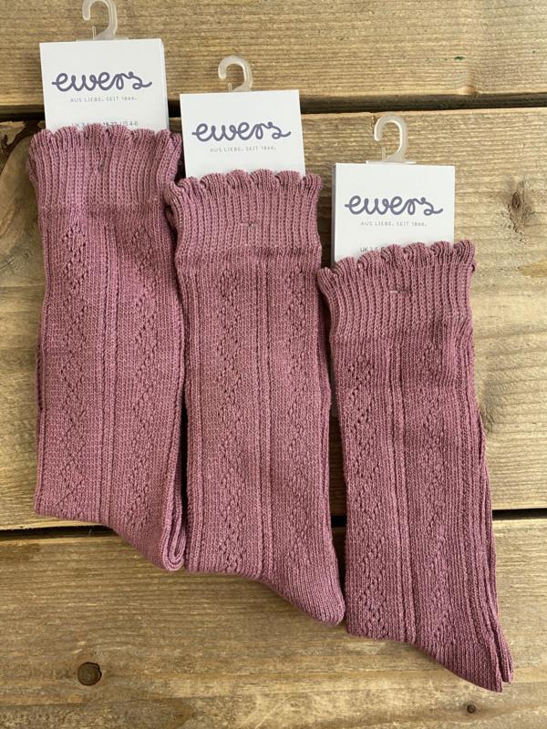 Ewers - Kniekousen Crochet Lace Dusty Rose