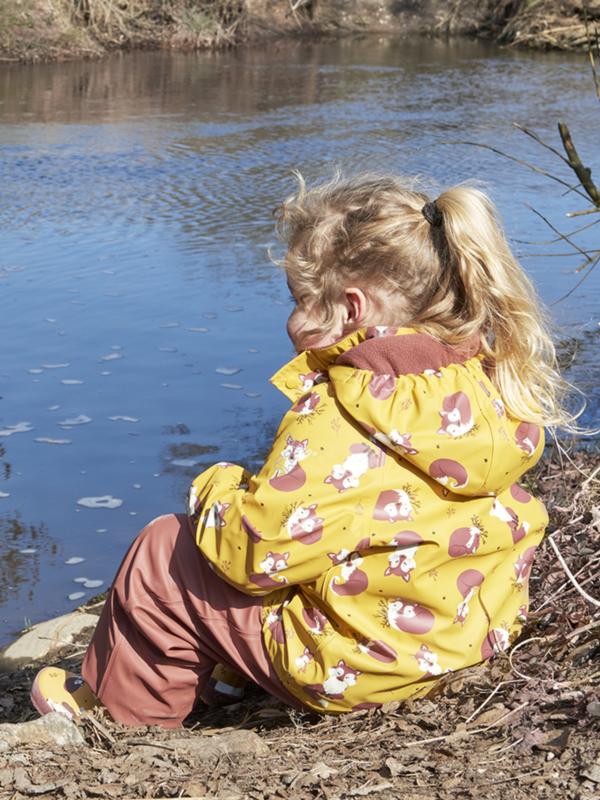 Celavi - Rainwear Set Solid fleece Mineral Yellow Fox
