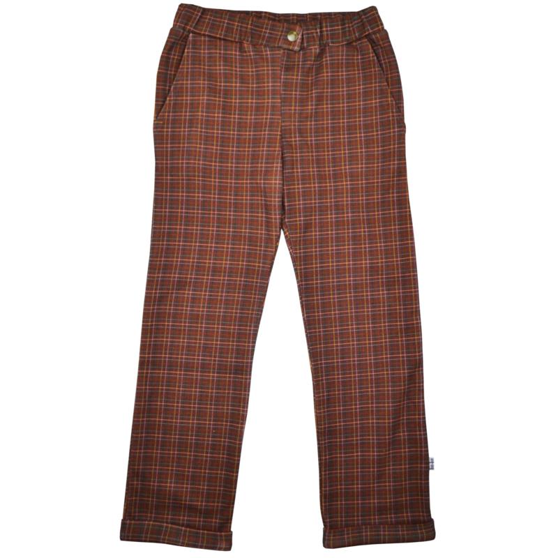 Baba - Boys Pants Brown Check