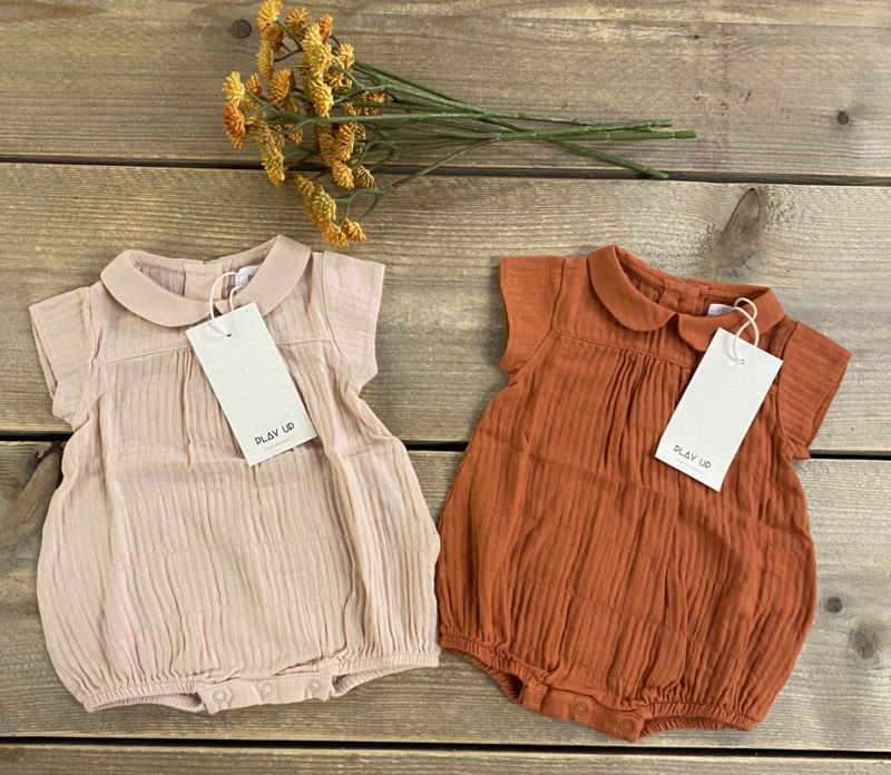 Play Up - Jumpsuit with Opening at the Back Anise