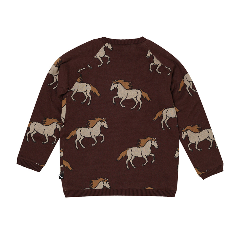 Carlijn Q - Knitted Cardigan with Teddy Lining Wild Horses