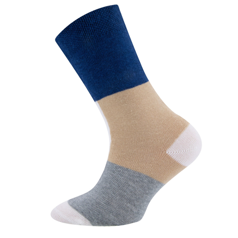 Ewers - Socken 3-Pack STREIFEN Passerina/Latte/Grau Melange